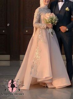 Hijab Dress Party, Hijab Evening Dress, Hijab Wedding Dresses, Prom Dresses With Sleeves, Wedding Dresses For Girls, Event Dresses, Ball Dresses, Bridal Dresses, Muslim Prom Dress