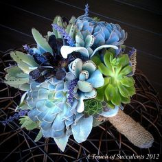 diy living succulent bouquet - Google Search