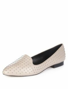 Autograph Leather Studded Shoes with Insolia Flex®-Marks & Spencer £99.00