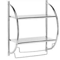 Home Decorators Collection 2 Shelves And Towel Rack In Chrome