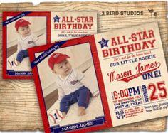 baseball invitation / baseball party invitation / by TinyConfetti