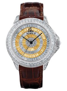 Jacob & Co. ROYAL2BY 18k white gold dial set with 272 fancy cut white baguette diamonds (25.10 carats) and 72 fancy cut yellow baguette diamonds (6.16 carats)