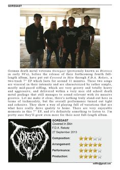 "Goregast  ""Covered in Skin"" 7"" EP - Review - (Milfits 'zine, issue#3)"