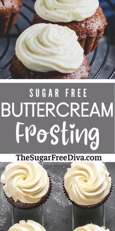 Perfect for frosting your next cake or cupcakes (think birthday!). This easy recipe works great with your next dessert and is keto low carb friendly too! Sugar Free Deserts, Sugar Free Treats, Sugar Free Recipes, Ww Recipes, Baking Recipes, Tart Recipes, Easy No Bake Desserts, Healthy Desserts, Delicious Desserts
