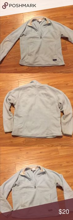 Patagonia never dies! WELL loved Patagonia women's synchilla in minty green. Some faded and worn spots. It's been to the bottom of Grand Canyon and back 28 times! Patagonia Tops Sweatshirts & Hoodies
