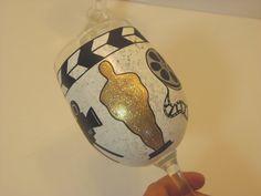 Academy Awards Inspired Painted Wine Glass by KudosKitchenByRenee, $30.00