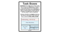 The Task Boxes Method Prioritizes To-Dos for Visual People