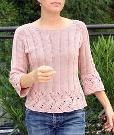 Knit-Chinese Lace Pullover pattern $5.50