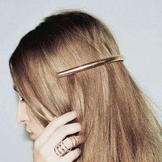 Apparel Accessories Korean Creative Finger Heart Shaped Bobby Pins Women Girls Polished Metallic Gold Silver Hair Clips Hollow Geometric Barrettes