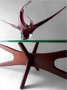 1960's EXQUISITE CHALET ART GLASS VASE MURANO MID-CENTURY MODERN EAMES ERA