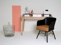 Chair Cooper with desk Melville Wood/White!