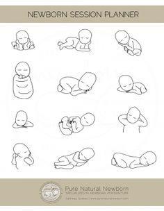 Posen für neugeborene