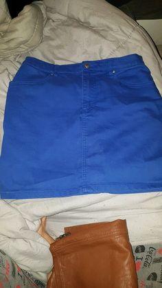 Mini jupe bleu électrique