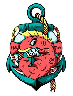 My personal touch on Abe Simpson's famous tattoo of the Hell Fish, smells like t-shirt! Simpsons Tattoo, Simpsons Art, Cartoon Kunst, Cartoon Art, Graffiti Drawing, Art Drawings, Apocalypse Tattoo, Daddy Tattoos, Tatoos