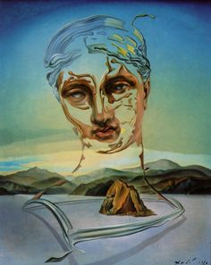 Birth of a Divinity - Dali Salvador Salvador Dali Tableau, Salvador Dali Gemälde, Salvador Dali Paintings, Surrealism Painting, Art Moderne, Surreal Art, Magritte, Art History, Fantasy Art