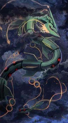 Mega Rayquaza. Pokemon.