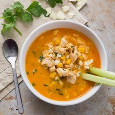 Love buffalo wings on game day? You'll love this lighter, spicy soup version.