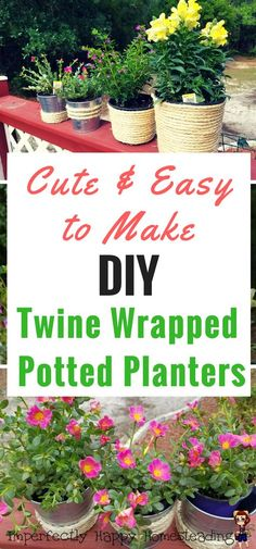 Easy To Make DIY Twine Wrapped Potted Planter. Perfect Way To Dress Up Your  Patio