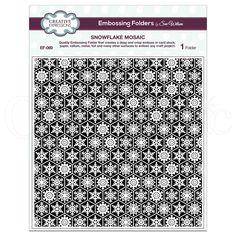 Creative Expressions Sue Wilson Embossing Folder - Snowflake Mosaic - 8 x 8 Embossing Folders by Sue Wilson - Craftasmic