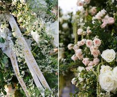 """""""Wishes"""" ribbons - love this idea. Colin Cowie, Barn Wedding, white, outdoor    Colin Cowie Weddings"""