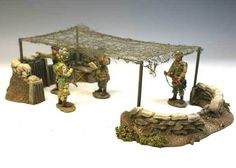B216 1:32 Netted Command Post - Great For King & Country 1/30 54mm - BUILD-A-Rama Military Miniatures