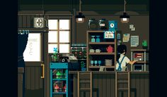 Japan Comes To Life in Retro-Style GIFs. Super cool. I miss 8-bit games
