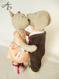 Блог Мои любимые игрушки. Анна Балябина, авторские куклы и игрушки: Живут как Кошка с Собакой. Выкройки текстильных игрушек