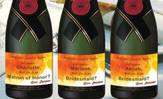 Yellow Mini Champagne Labels Personalized by LabelByLoveArts
