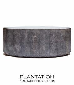 "Hilson ""Shagreen"" Oval Coffee Table   Grey"