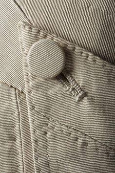 Eighteenth century breeches. That essential button.