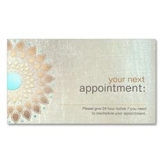 Gold Lotus Salon and Spa Appointment Card Double-Sided Standard Business Cards (Pack Of 100). This great business card design is available for customization. All text style, colors, sizes can be modified to fit your needs. Just click the image to learn more!