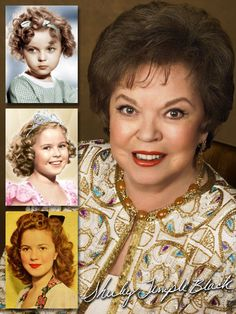 Shirley Temple Black (1928–2014) was an American actress, singer, dancer & one-time ambassador to Ghana & Czechoslovakia. She served as Chief of Protocol of the US, 1976–77. She began in films at age 3 in 1932; 'retired' in 1950 at age 22. She was on boards of many organizations including The Walt Disney Company, Del Monte Foods and the National Wildlife Federation.
