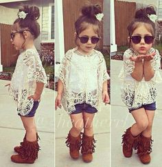 Little girl swag! How cute is she!