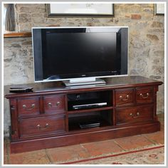 Mahogany TV Stand Wood Drawers Shelves Storage Living Room Furniture Cabinet for sale online Cabinet Furniture, Living Furniture, Ikea Tv Unit, Television Cabinet, Dining Room Hutch, Kitchen Hutch, Room Kitchen, Mahogany Furniture, Treehouse