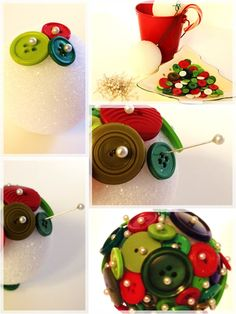 DIY -  Button Christmas Ornament