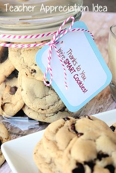 Teacher Appreciation Idea: Thanks to You Were Smart Cookies {with Printable} by CrazyLittleProjects.com #teacher #appreciation #gift