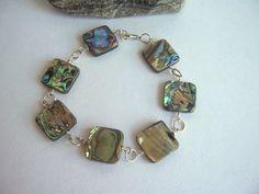 Abalone e argento bracciale gioielli da sposa di starrydreams