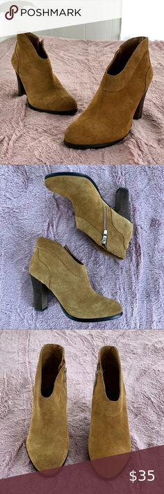 Retro Womens Cut Out Chunky Low Mid Heel Booties Zipper Ankle Boots Shoes Size
