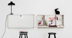 Junior Living's Wall-Hanging Desk  Closed : W107 x D25 x H57 cm Open: W107 x D68 x H57 cm
