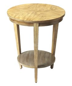 This Driftwood Round Accent Table is perfect! #zulilyfinds