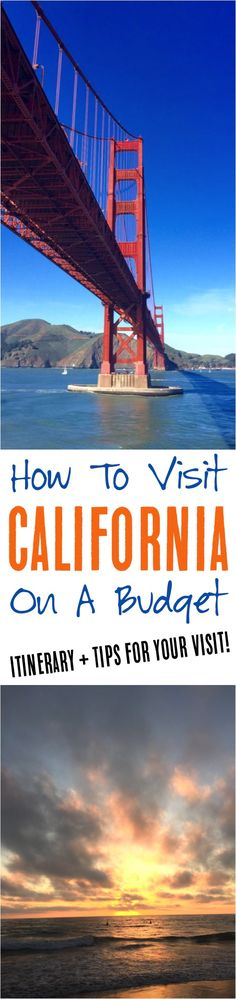California Road Trip Itinerary!  The ultimate guide for road tripping across California + budget tips to make it happen!