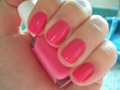 """Never met a PINK that I did not fall for.  This is just luscious by Essie """"Pansy"""" two coats of color with a base."""