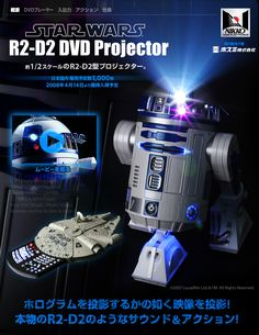 R2-D2 DVD Projector (TV Gmae,Video,USB,iPod ...)
