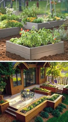 diy raised garden beds DIY garden projects anyone can make for home gardening. Great list of must haves for a small and big garden, backyard, patio and outdoor space. Diy Garden Projects, Outdoor Projects, Wood Projects, Dream Garden, Home And Garden, Easy Garden, Herb Garden, Garden Boxes, Garden Art