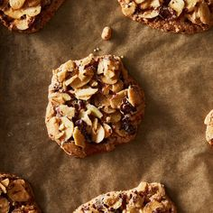 Dorie Greenspan's Almond Crackle Cookies recipe on ( try using some dried cherries and chocolate chips) No Cook Desserts, Just Desserts, Crackle Cookies, Cookie Recipes, Dessert Recipes, Almond Flour Cookies, Dorie Greenspan, Food 52, Sweet Recipes
