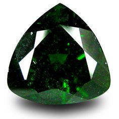 Diopside 110794: 2.89 Ct Beautiful Trillion Shape (9 X 9 Mm) Green Chrome Diopside Gemstone BUY IT NOW ONLY: $40.49