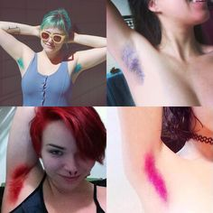 Dyeing Your Armpits Bright Colors Is Now a Thing ..... it's like a train wreck!  Ewwww can't stop looking