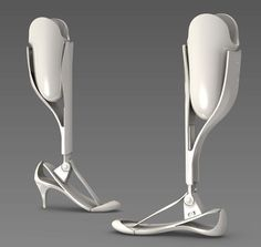 This leg, designed for women, has different skins you can wear over it to make whatever fashion statement you'd like