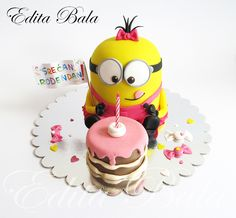 Minion Cake For One Little Girl