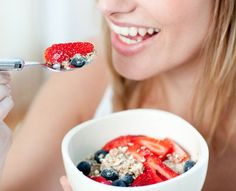 How to Enjoy Being on a Diet -  You MUST   eat breakfast to jump start your metabolism:  a veggie omelet, fruit smoothie   with spinach, oatmeal with fruit and nuts, or Greek yogurt with fresh fruit are   excellent choices.